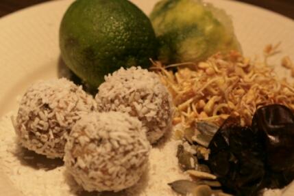 Lime- & kokosbollar