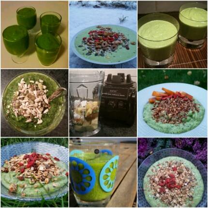 Grönt är skönt – smoothies och smoothiebowls