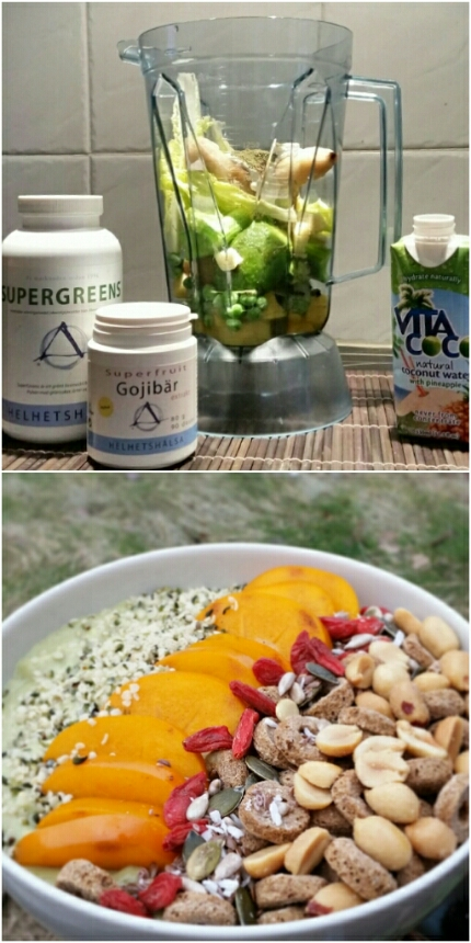En supergreen smoothiebowl