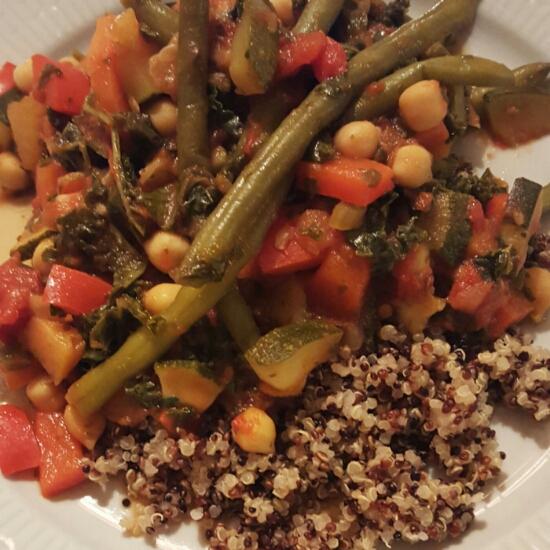 Grönkål- & quinoagryta