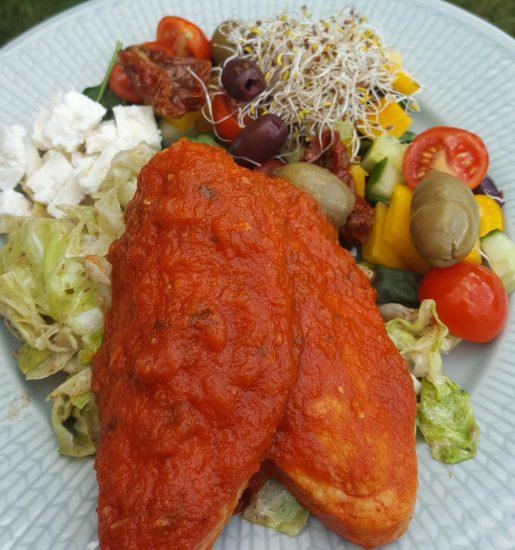 Tomat- & basilikasås